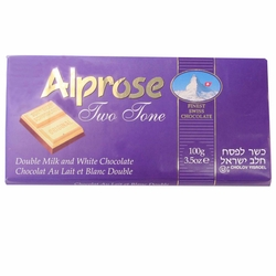 Alprose Two-Tone Milk Chocolate Bar
