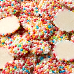 White Chocolate Rainbow Nonpareils