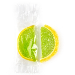 Wrapped Lemon-Lime Jelly Fruit Slices