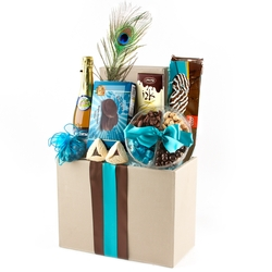 Elegant File Box Purim Basket