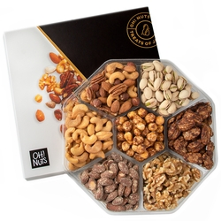 7 section holiday nut platter