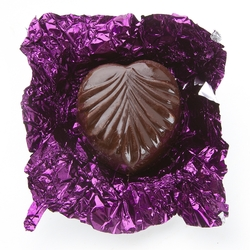 Non-Dairy Purple Leaf Chocolate Truffles