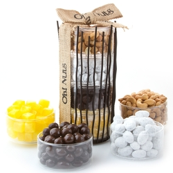 Purim Large Twig Candy Stand Gift Basket