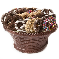 large Chocolate Pretzel Dark Chocolate Basket