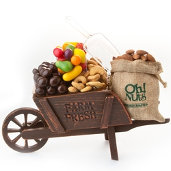 Rustic Charm Wooden Wheelbarrow