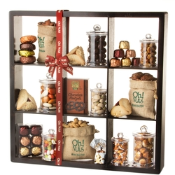 Purim 9 Shelf Display Case Gift Basket