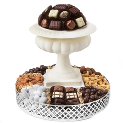 White Chocolate Vase Gift Basket