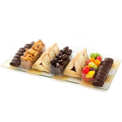 Bevel Glass Purim Tray