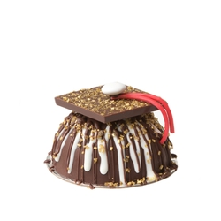 Hand Made Belgian Chocolate Praline Graduation Hat Mini SMASH CAKE