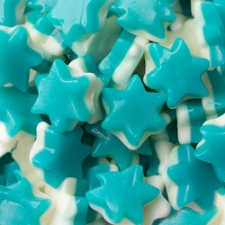 Gummy Blue & White Stars