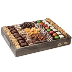 Gourmet Signature Wooden Chocolate Tray - Large 14