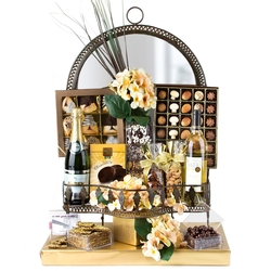 Elaborate Entrance Mirror Gift Basket