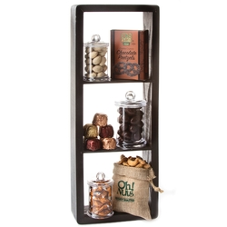 Purim 3 Shelf Display Case Gift Basket