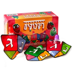 Hanukkah Dreidel Fruit Flavored Sour Squeeze Candy