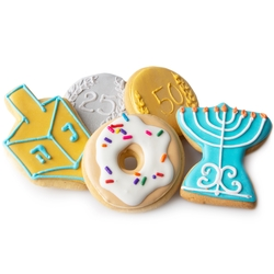 Hanukkah Decorative Cookies Favor