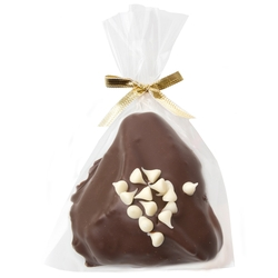 Chocolate Covered Hamantaschen With White Chips - 1PC