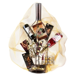 Purim Magnificent Wine Rack Gift Basket