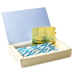Baby Boy Birth Announcement Candy Sticks - 24CT Box