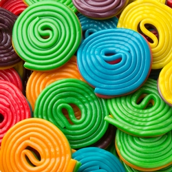 Assorted Colorful Spirals - 2.2 LB Bag