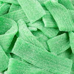 Sour Green Apple Belts Chips - 2.2 LB Bag