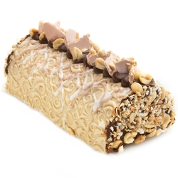 Hand-Crafted Decorative Peanut-Butter Truffle Chocolate Log