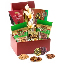 Passover Burgundy Photo Box Gift Basket