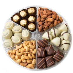 6 Section Premium Non-Dairy Chocolate - 2LB Gift Platter