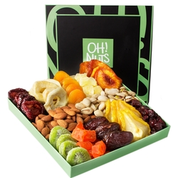 12 Variety Dries Fruit & Nuts Gift Box