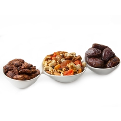 Ceramic Trio Nuts & Dried Fruits Gift