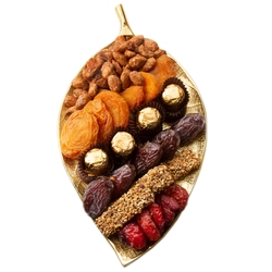 Gold Leaf Dried Fruits & Nuts Dish