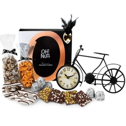Free Wheeler - Purim Metal Bike Desk Clock Shalach Manos Gift