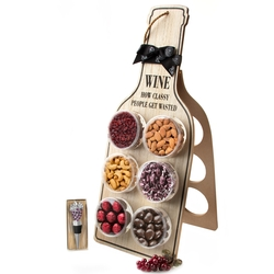 Purim Foldable Wine Rack Holder Shalach Manos Gift