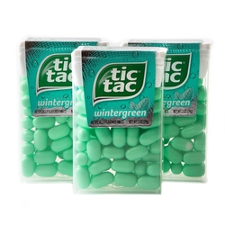 Tic Tac Wintergreen Mint Candy Dispensers - 12CT