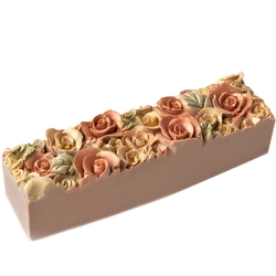 Purim Decorative Flower Glitter Truffle Chocolate Log