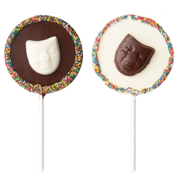 Purim Handmade Belgian Chocolate Pops