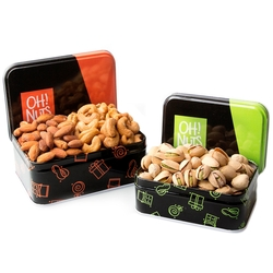 Passover Fresh Nuts Tin Duo Gift Basket