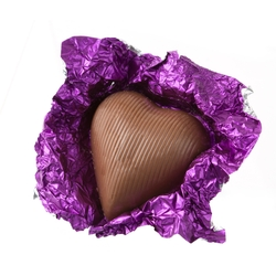 PurpleFoiledMilk ChocolateHearts