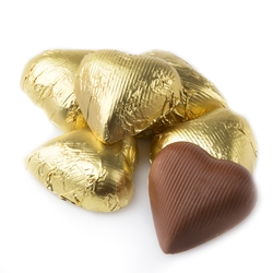 Gold Foiled Milk Heart Shaped Chocolate