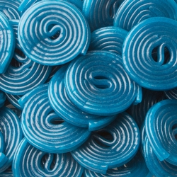 Fini Kosher Blue Spiral Licorice Gummies - 2.2 LB Bag