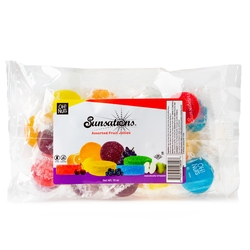 Oh! Nuts Wrapped Sunsation Fruit Jellies - 10oz Bag