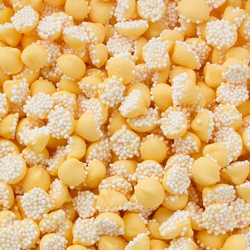 Yellow Mini Creamy Mint Nonpareils Drops - 1 LB Bag