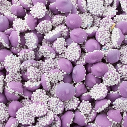 Purple Mini Creamy Mint Nonpareils Drops - 1 LB Bag