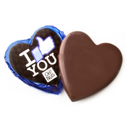 'I Like You' Dark Belgian Chocolate Messgage Heart