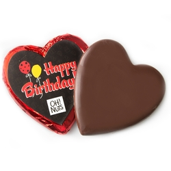 'Happy Birthday' Dark Belgian Chocolate Message Heart