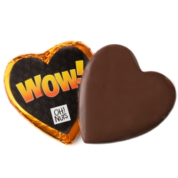 'Wow' Chocolate Messgage Heart