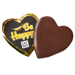 'Be Happy' Dark Belgian Chocolate Messgage Heart