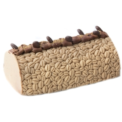 Hand-Crafted Decorative Embossed Coffee Truffle Chocolate Log