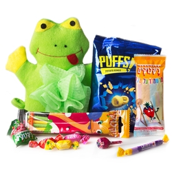 JUMPY - Frog Bath Scrubber Kids Gift Pack - 8 Pack