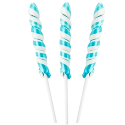 Mini Light Blue & White Unicorn Lollipops - 24CT