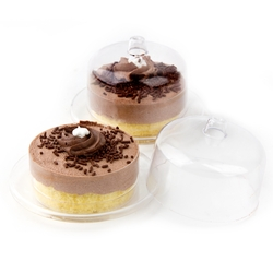 Passover Handmade Miniature Chocolate Mousse Cake - 6CT
